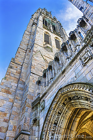 Free Arch Harkness Tower Old Campus Yale University New Haven Connecticut Stock Photos - 98095513