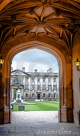 Arch of King s College Cambridge University
