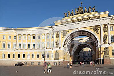 The arch of the Main headquarters Editorial Stock Image