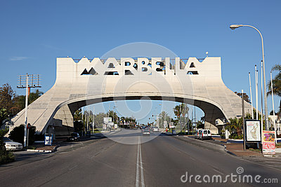 Arch in Marbella, Spain Editorial Stock Image
