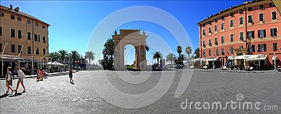 Arch of Margaret of spain in Finale Ligure Editorial Stock Image