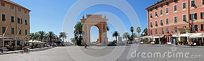 Arch of Margaret of spain in Finale Ligure Editorial Image
