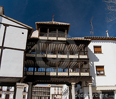 Arch of Mayor Square from Tembleque, Spain