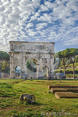 Free Arch Of Constantine, Rome Royalty Free Stock Image - 89007226