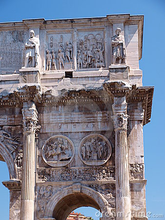 Free Arch Of Constantine The Great, Rome, Italy Stock Image - 22236671