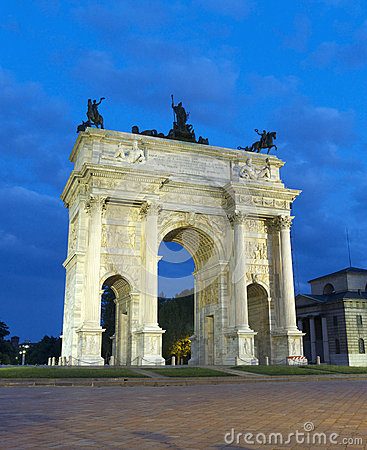 Arch Of Peace Milan Italy