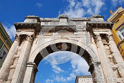Arch in Pula, Croatia.