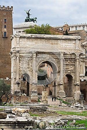 Arch in Roman Forum