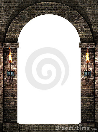 Arch with torches
