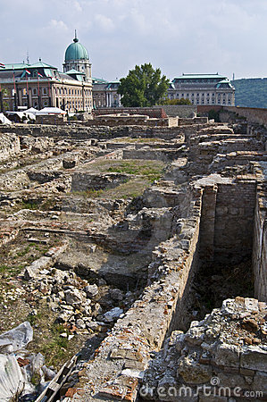 Archaeological excavation on the castle hill