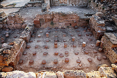 Archaeological excavations in Kato Paphos Park, Cy