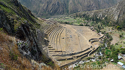 Archaeological site along Inca Trail, Peru