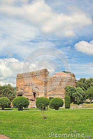 Archaeological site in Tivoli near Rome