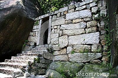 Archaeology stone door