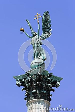 Archangel Gabriel Statue in Budapest