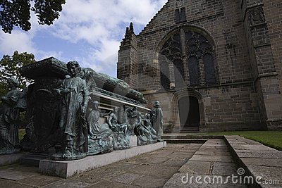 Archbishop tomb at King s College in Aberdeen