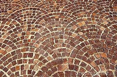 Arched brick background pattern