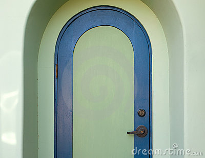 Arched door in the American Southwest