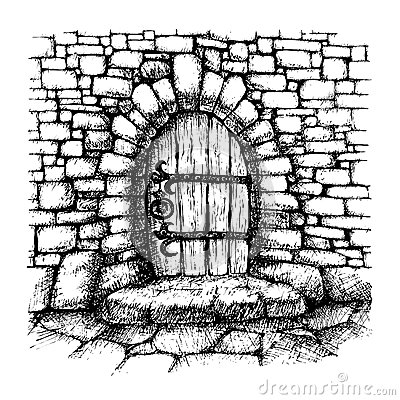 Arched Door Stock Vector Image 48998303