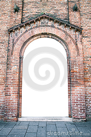 Free Arched Entrance Of A Medieval Church Suitable As A Frame. Stock Image - 71787041