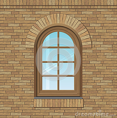 Free Arched Old Window Stock Photo - 75337920