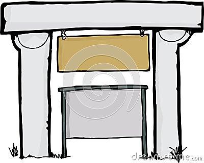 Arched Sign Holder