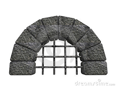 Arched stone entrance