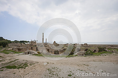 Archeological site of Carthage, Antonine Thermae, Tunis, Tunisia