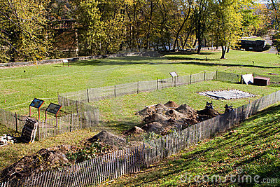 Archeologii wykopaliska promu harfiarzów miejsce