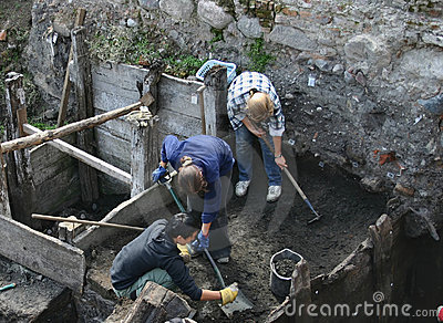 Archeologists at work