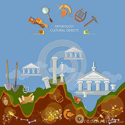 Free Archeology Dig Ancient Treasures Civilization Cultural Objects Royalty Free Stock Photography - 64705307