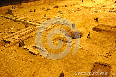 Archeology site of Tang Dynasty in Chengdu Editorial Image