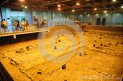 Archeology site of Tang Dynasty in Chengdu Editorial Stock Image