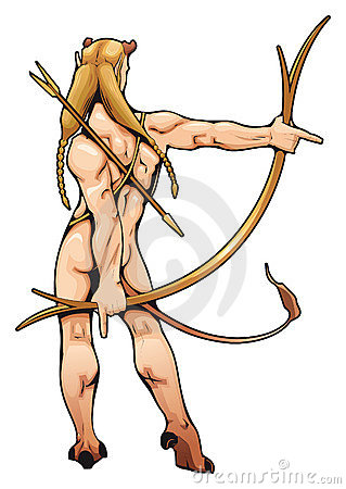 Archer elf with arch and arrow.
