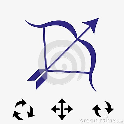 Archery Arrow Target Equipment Sport Icon Flat Vector Illustration Vector Illustration