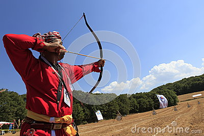Archery competition in Turkey Editorial Image