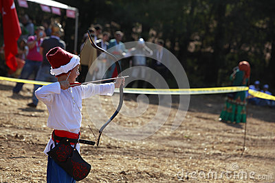 Archery competition in Turkey Editorial Photo