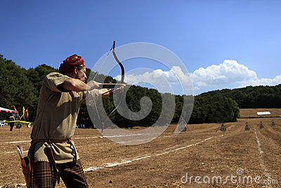 Archery competition in Turkey Editorial Stock Image