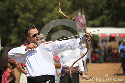 Archery competition in Turkey Editorial Stock Photo