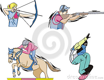 Archery, Equestrian, Shooting and Skateboarding