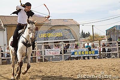 Archery on horseback Editorial Image