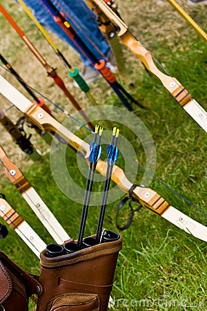 ArcheryEquipment. Bows, arrows, and quiver.