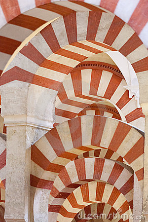 Arches in Moorish mosque
