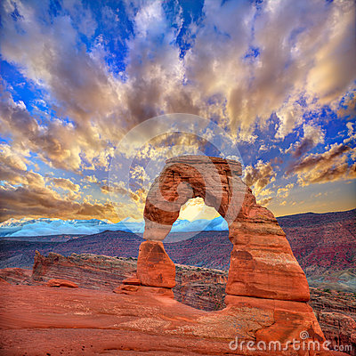 Free Arches National Park Delicate Arch In Utah USA Stock Photo - 34024530