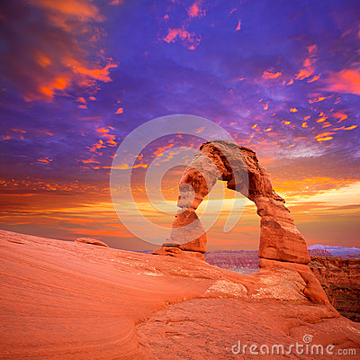 Free Arches National Park Delicate Arch In Utah USA Royalty Free Stock Photo - 34024935