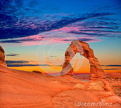 Free Arches National Park Delicate Arch In Utah USA Royalty Free Stock Photography - 34025017