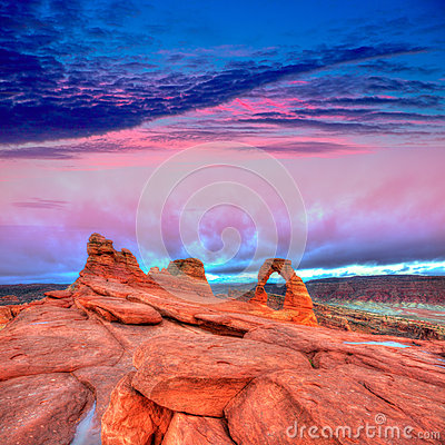 Free Arches National Park Delicate Arch In Utah USA Royalty Free Stock Images - 34025069