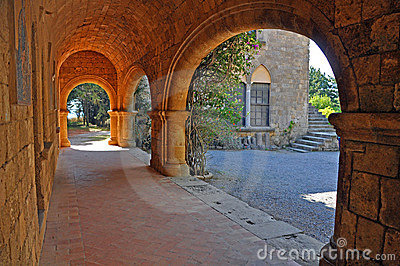 Arches and sun