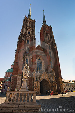 Free Archicathedral Of Wroclaw Royalty Free Stock Images - 16553469