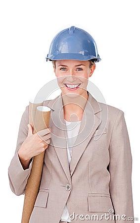 architec woman stock image image 12401471